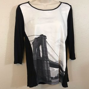 Elie Tahari Tops - Elie Tahari Black & White Top NYC Small